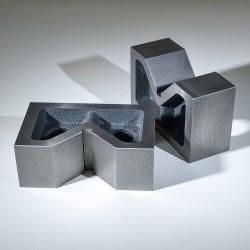Masivní V bloky 2ks šířka 206 mm