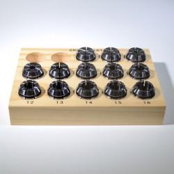 Sada 13 ks kleštin ER25L 4-16 mm