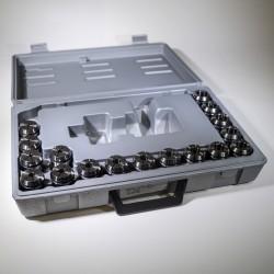 Sada 17 ks kleštin ER32L 4-20 mm
