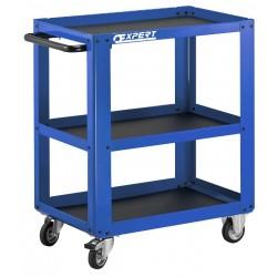 Celokovový manipulační stolek pojízdný 3 police Tona Expert