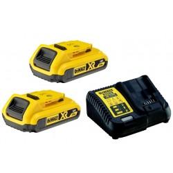Nabíječka pro zásuvné baterie XR 10,8 - 18V + 2ks baterie 2,0Ah DEWALT DCB115D2