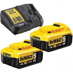 Nabíječka pro zásuvné baterie XR 10,8 - 18V + 2ks baterie 5,0Ah DEWALT DCB115P2