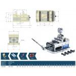 5osý přesný svěrák AEX 125G mechanický se zesilovačem upínací síly