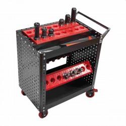 Přepravní NC vozík pro nástrojové držáky HSK 63-A+F, 28 vložek
