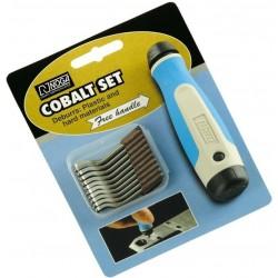 Odjehlovač ruční - sada, kobaltové nože 20ks